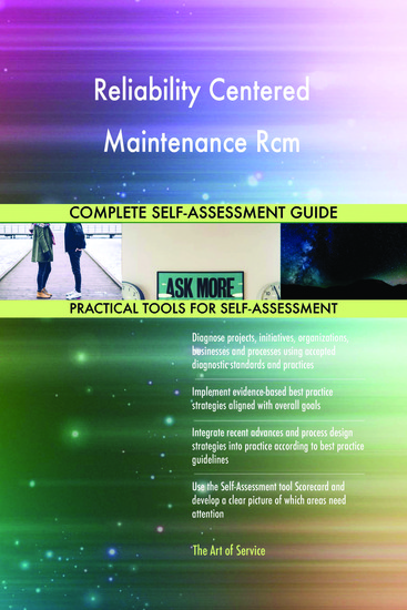 Reliability Centered Maintenance Rcm Complete Self-Assessment Guide - cover