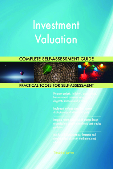 Investment Valuation Complete Self-Assessment Guide - cover