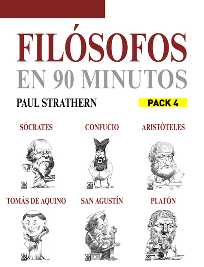 En 90 minutos - Pack Filósofos 4 - Sócrates Platón Aristóteles Confucio Tomás de Aquino y San Agustín - cover