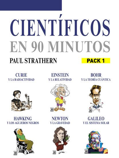 En 90 minutos - Pack Científicos 1 - Curie Einstein Bohr Hawking Newton y Galileo - cover