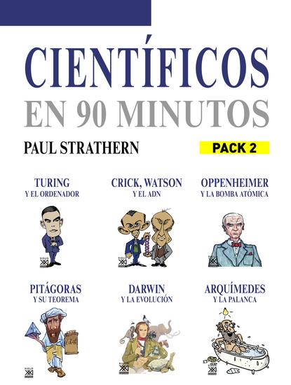 En 90 minutos - Pack Científicos 2 - Turing Watson y Crick Oppenheimer Pitágoras Darwin y Arquímedes - cover