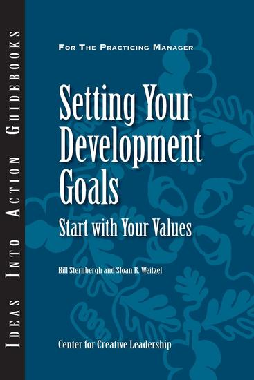 Setting Your Development Goals: Start with Your Values - cover