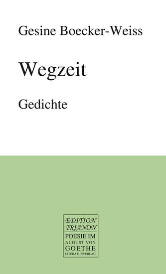 Wegzeit - Gedichte - cover