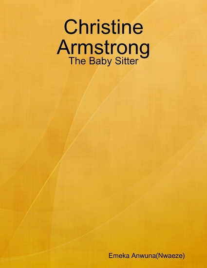 Christine Armstrong: The Baby Sitter - cover