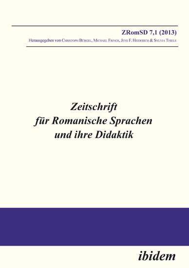 Zeitschrift für Romanische Sprachen und ihre Didaktik - Heft 71 - cover
