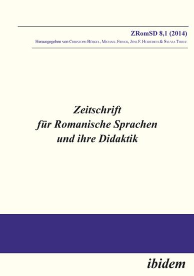 Zeitschrift für Romanische Sprachen und ihre Didaktik - Heft 81 - cover
