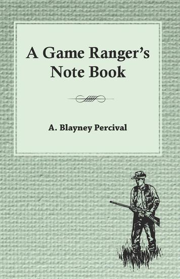 A Game Ranger's Note Book - cover