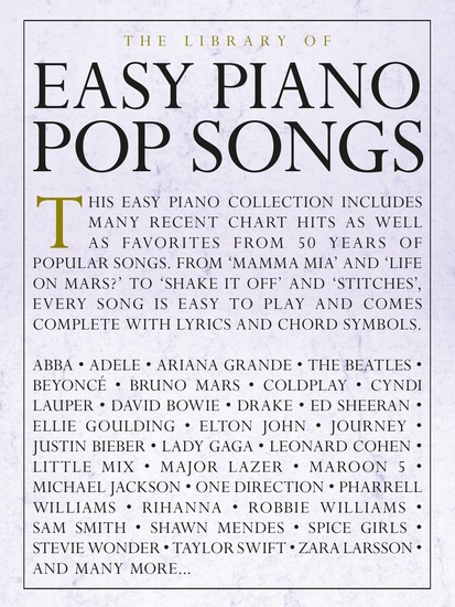 The Library of Easy Piano Pop Songs - cover