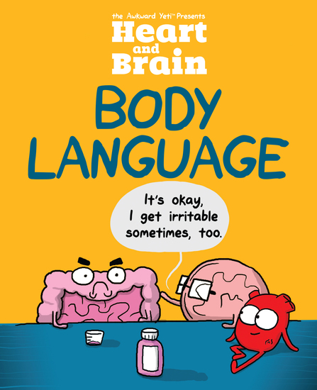 Heart and Brain: Body Language - An Awkward Yeti Collection - cover