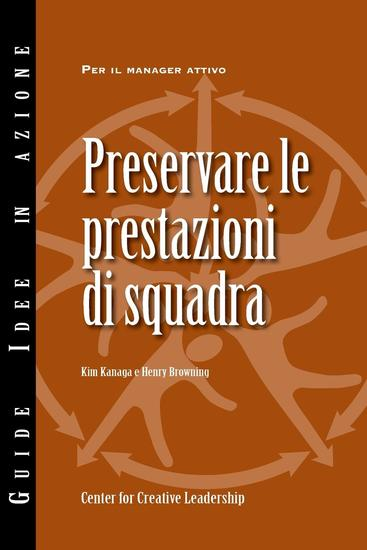 Maintaining Team Performance (Italian) - cover