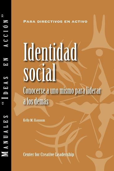Social Identity: Knowing Yourself Leading Others (Spanish for Spain) - cover