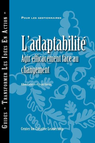 Adaptability: Responding Effectively to Change (French Canadian) - cover