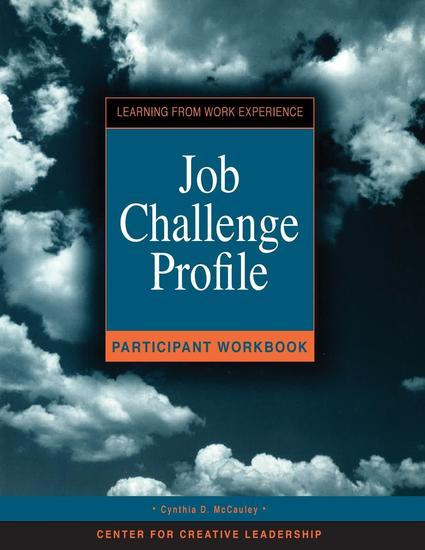 Job Challenge Profile Participant Workbook and Survey - cover