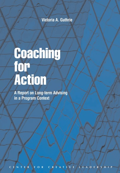 Coaching for Action: A Report on Long-term Advising in a Program Context - A Report on Long-term Advising in a Program Context - cover