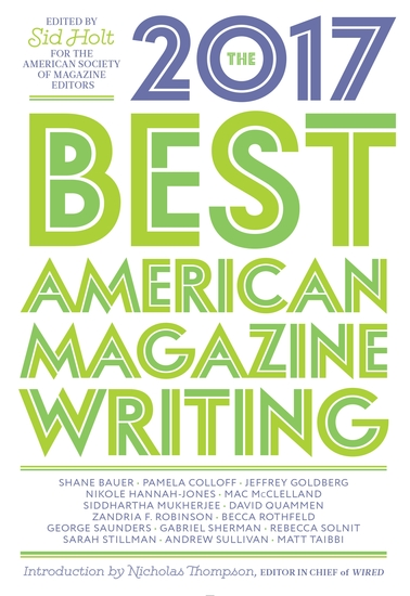 The Best American Magazine Writing 2017 - cover