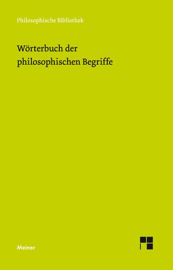 Wörterbuch der philosophischen Begriffe - cover