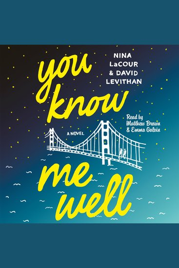 You Know Me Well - A Novel - cover