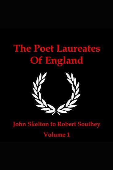 The Poet Laureates Volume 1 - cover