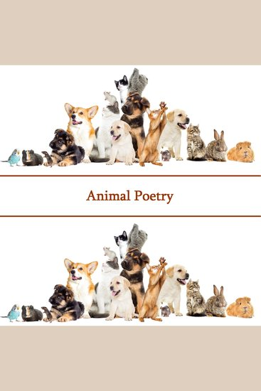 The Poetry Of Animals - cover