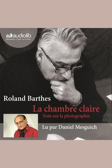 La Chambre claire - Note Sur La Photographie - cover