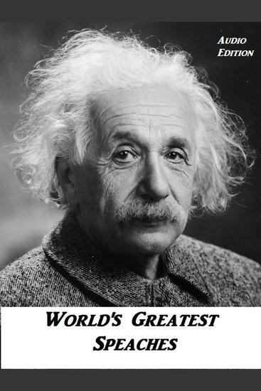 Peace: Greatest Speeche's Albert Einstein - cover