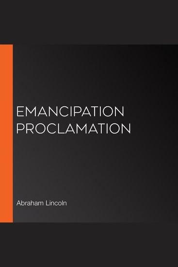 Emancipation Proclamation - cover