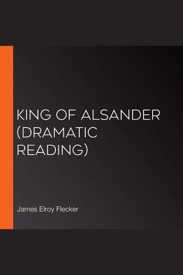 King of Alsander (Dramatic Reading) - cover