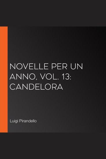 Novelle per un Anno vol 13: Candelora - cover