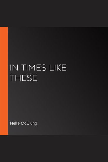 In Times Like These - cover