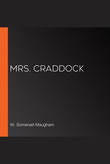Mrs Craddock - cover