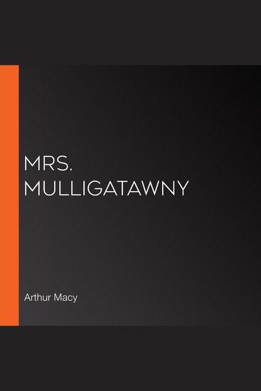 Mrs Mulligatawny - cover