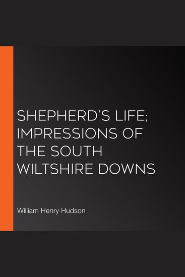 Shepherd's Life; Impressions Of The South Wiltshire Downs - cover