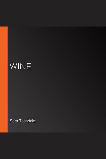 Wine - cover