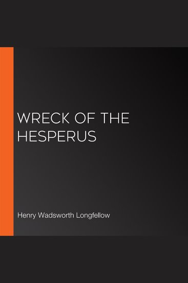 Wreck of the Hesperus - cover