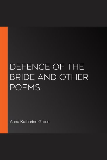 Defence of the Bride and Other Poems - cover