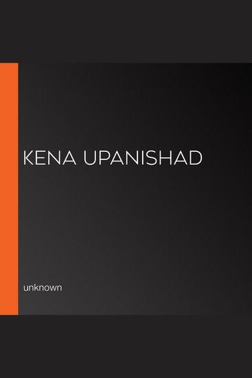 Kena Upanishad - cover
