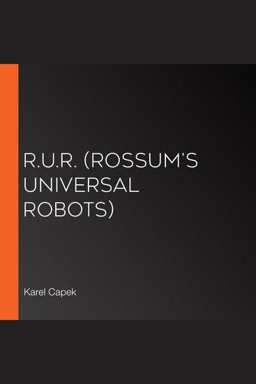 RUR (Rossum's Universal Robots) - cover