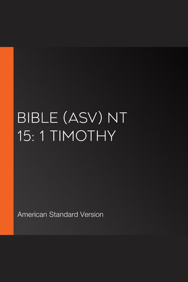 Bible (ASV) NT 15: 1 Timothy - cover