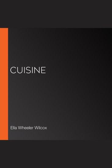 Cuisine - cover