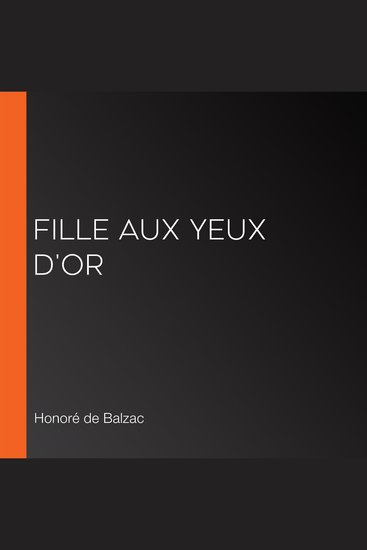 fille aux yeux d'or - cover