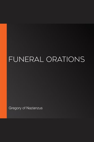 Funeral Orations - cover