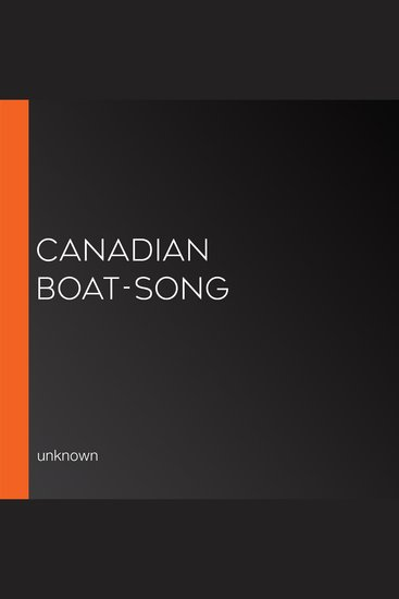 Canadian Boat-Song - cover