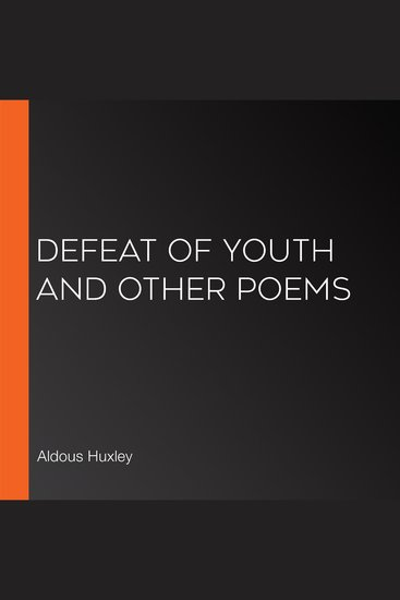 Defeat of Youth and Other Poems - cover