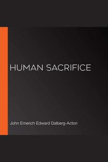 Human Sacrifice - cover