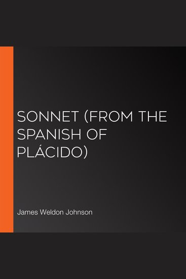 Sonnet (From the Spanish of Plácido) - cover