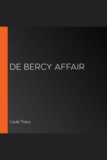 de Bercy Affair - cover