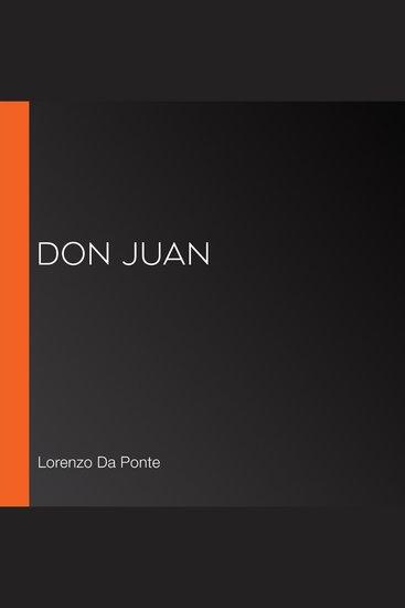Don Juan - cover