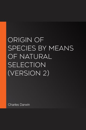 Origin Of Species by Means of Natural Selection (version 2) - cover