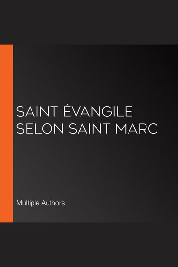 Saint Évangile selon Saint Marc - cover