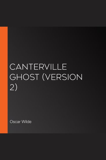 Canterville Ghost (version 2) - cover